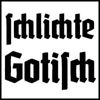 Schlichte Gotisch bzw. Schaftstiefelgrotesk