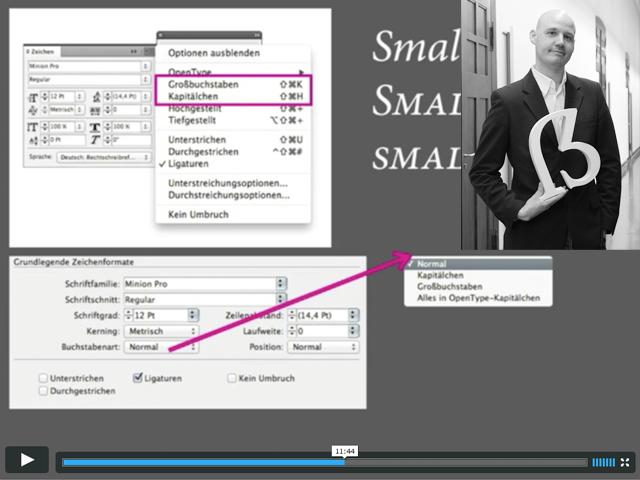 Screencast: OpenType in InDesign