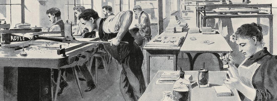Entstehung der Schriftgießereien unter besonderer Berücksichtigung Leipzigs