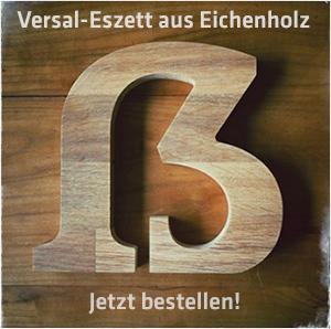 Versal-Eszett aus Eichenholz - Jetzt bestellen