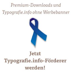Jetzt Typografie.info-Förderer werden