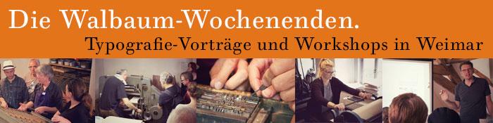 Vorträge und Workshops zu Schrift und Typografie in der Pavillon-Presse