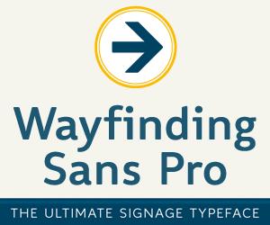 Wayfinding Sans Pro –die ultimative Beschilderungsschrift