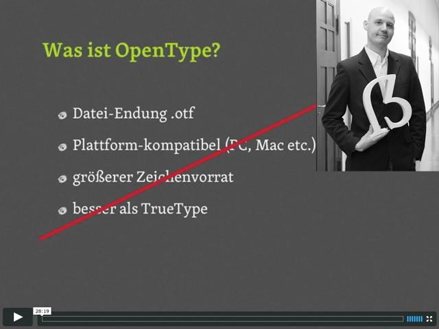 Screencast: Was ist OpenType?