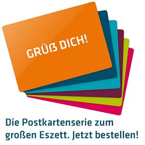 Die Postkarten-Serie zum großen Eszett. Jetzt bestellen!