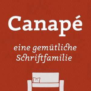 Canapé - eine gemütliche Schrift von Sebastian Nagel