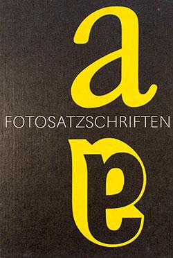 Fotosatz-Schriften