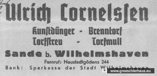 Briefkopf der Firma Cornelssen vom Dezember 1938 (NLA Oldenburg, Best. 136, Nr. 18392).jpg