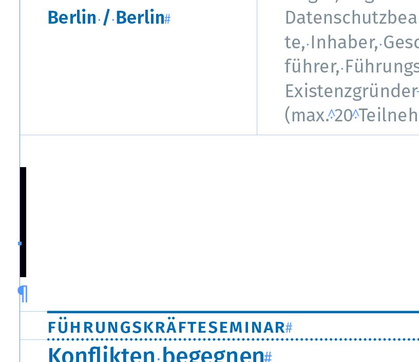 GREP: Platzierte Tabellen auswählen - Adobe-Programme - Typografie.info