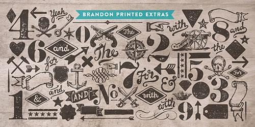 Brandon Printed — ein MyFonts-Bestseller