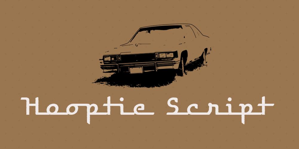 Hooptie Script – Schriften aus der Motor City