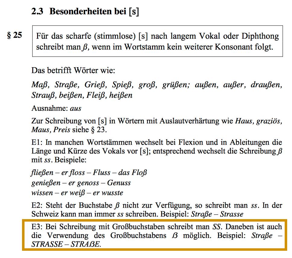 Versal-Eszett (ẞ) (Bedeutung/Definition im Typografie-Fachbegriffe-Wiki)