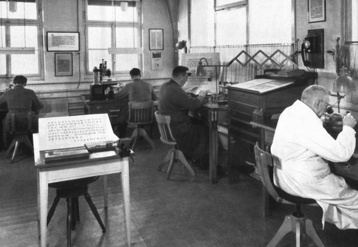 Einblicke in die Haas'sche Schriftgiesserei