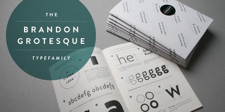 Brandon Grotesque — ein MyFonts-Bestseller
