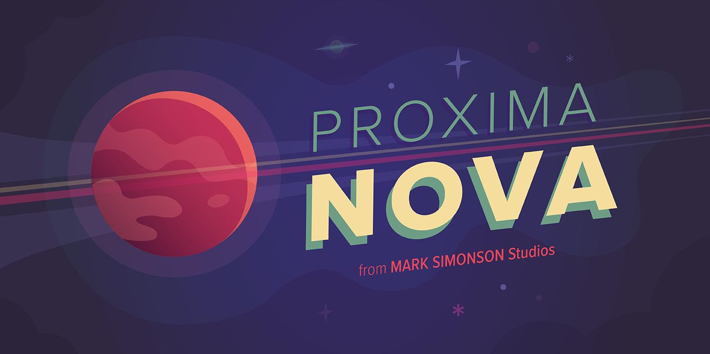 Proxima Nova – ein MyFonts-Bestseller