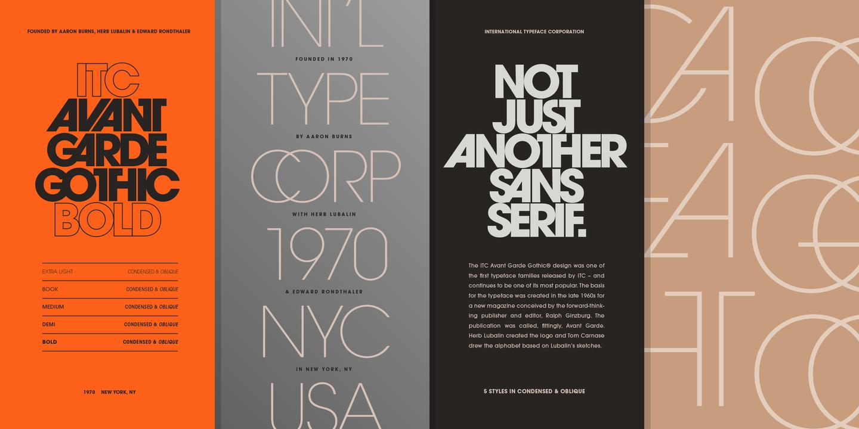 ITC Avant Garde – a MyFonts Bestseller