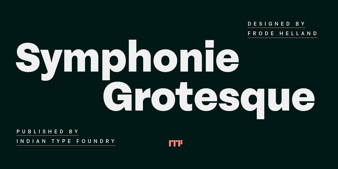 Symphonie Grotesque - Hot New Font on MyFonts