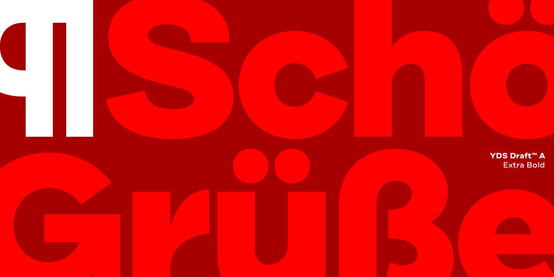 Draft –Superfamilie mit 144 Schnitten vom Yellow Design Studio