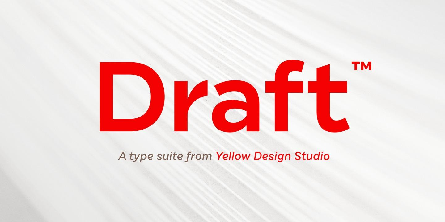 Draft – Superfamilie mit 144 Schnitten vom Yellow Design Studio