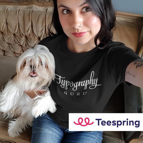 Typografie-Produkte bei Teespring …