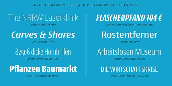 Conto von TypeMates. Neu bei Fontspring.