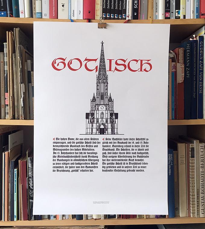 Schriftmuster-Posterset: Antiqua, Fraktur, Gotisch